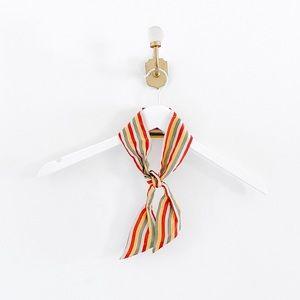 Madewell 100% Silk Rainbow Stripe Skinny Scarf